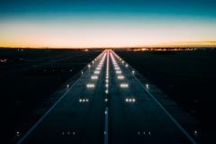 Start-und Landebahn Befeuerung