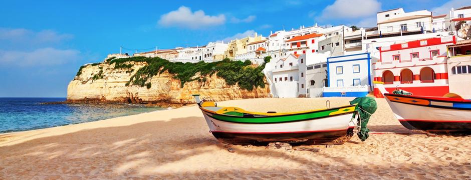 Portugal Algarve Fischerboot Bucht