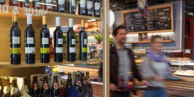 Gastronomie_Bar im Sicherheitsbereich