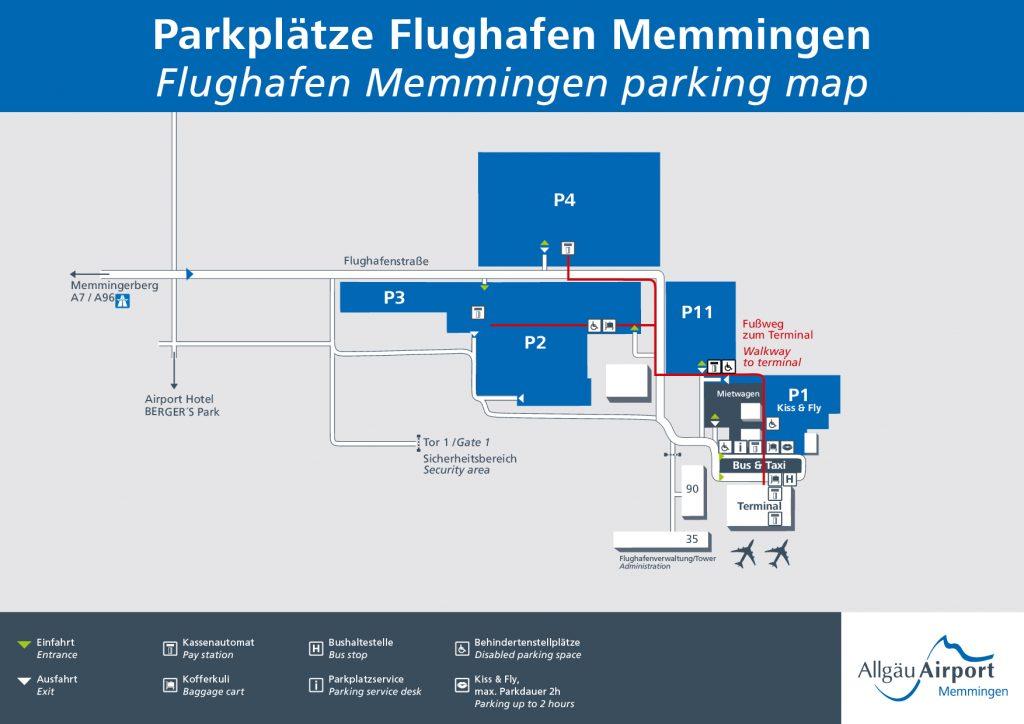 Günstig Parken Am Flughafen Memmingen Jetzt Parkplatz