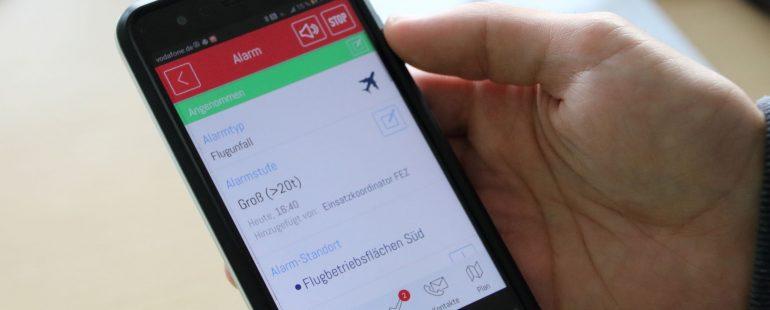 Notfallübung am Flughafen Memmingen mit EVALARM