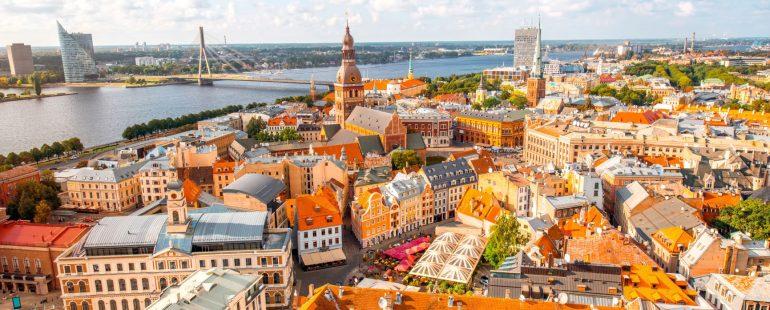 Altstadt von Riga aus der Luft