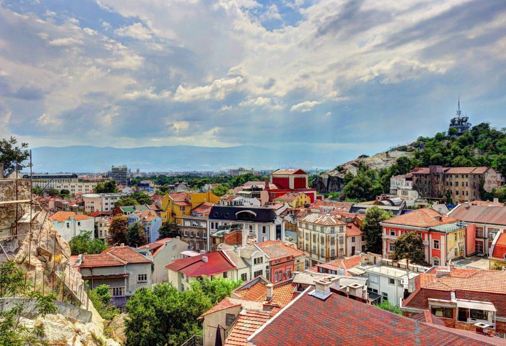 Plovdiv Altstadt von oben
